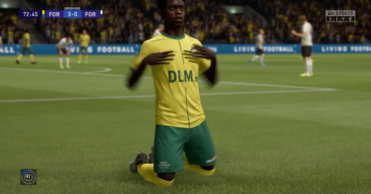 James Robinson in FIFA20.